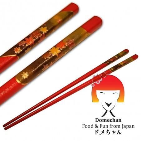 Chopsticks original japanese wooden red - 22.5 cm Tanaka RLY-72995355 - www.domechan.com - Japanese Food
