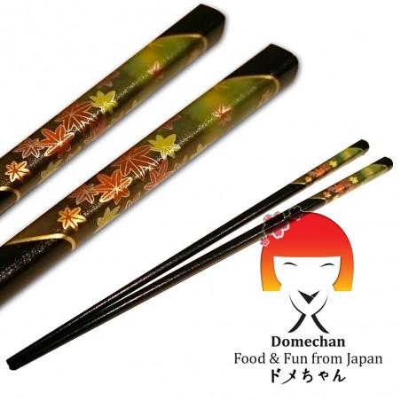 Bacchette originali giapponesi in legno nere - 22,5 cm Tanaka RNW-42946928 - www.domechan.com - Prodotti Alimentari Giapponesi