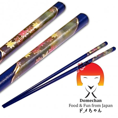 Bacchette originali giapponesi in legno blu - 22,5 cm Tanaka RNY-88292696 - www.domechan.com - Prodotti Alimentari Giapponesi