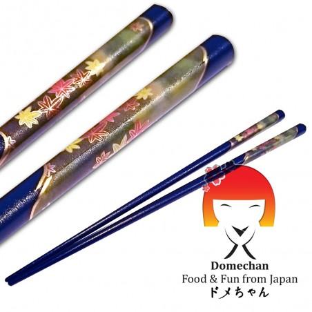 Chopsticks original japanese blue wood - 22.5 cm Tanaka RNY-88292696 - www.domechan.com - Japanese Food