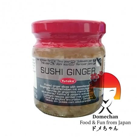 Zenzero in salamoia in vetro - 190 g Yutaka foods RSY-65576662 - www.domechan.com - Prodotti Alimentari Giapponesi