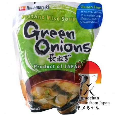 Sopa de Miso con cebollas de primavera 6 porciones - 109,2 g Hanamaruki SFW-22422659 - www.domechan.com - Comida japonesa