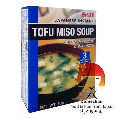 Miso soup with tofu (3 servings) - 30 g Domechan SHW-69466989 - www.domechan.com - Japanese Food