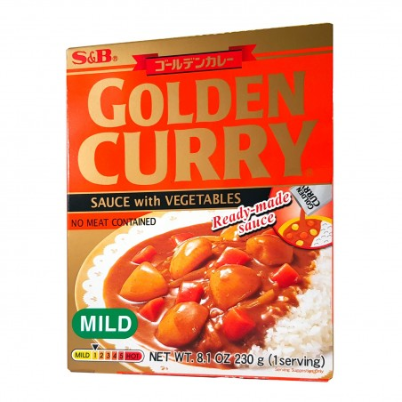 Prepared for Japanese golden curry (not very spicy) - 230 g S&B GJW-36656642 - www.domechan.com - Japanese Food
