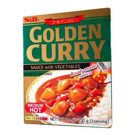 Prepared for Japanese golden curry (medium spicy) - 230 g S&B GJY-99563992 - www.domechan.com - Japanese Food