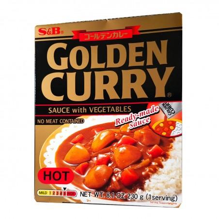 Preparato per curry giapponese golden (piccante) - 230 g S&B GKW-45849739 - www.domechan.com - Prodotti Alimentari Giapponesi