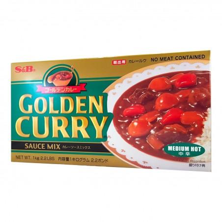 S&B Golden Curry (Mittel scharf) - 1 Kg S&B SXT-84252896 - www.domechan.com - Japanisches Essen