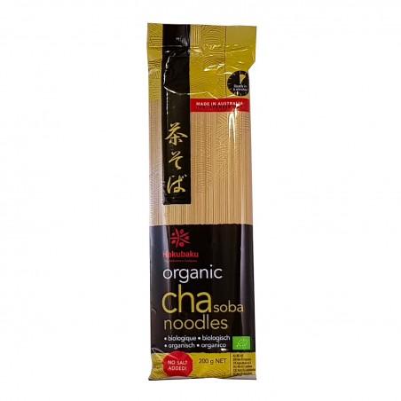 Noodle cha-soba biologica hakubaku - 200 gr Hakubaku UPA-63458348 - www.domechan.com - Prodotti Alimentari Giapponesi