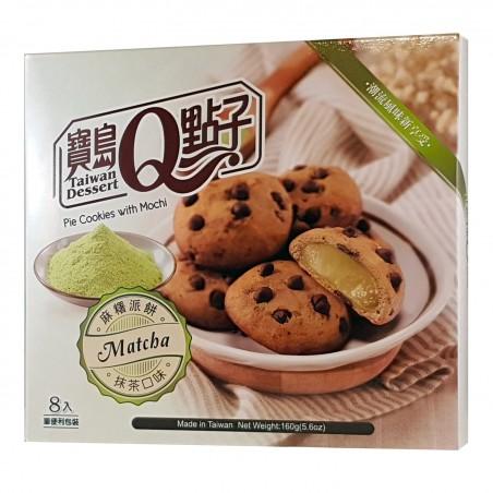 Biscotti con mochi al gusto tè matcha - 160 gr Royal Family UNW-37598267 - www.domechan.com - Prodotti Alimentari Giapponesi