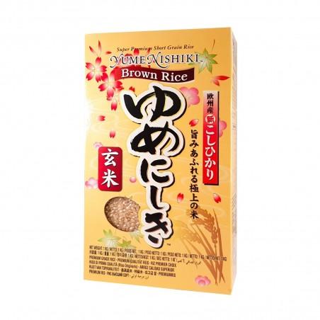 Brown rice for sushi koshihikari yume nishiki - 1 kg JFC BNW-48233636 - www.domechan.com - Japanese Food