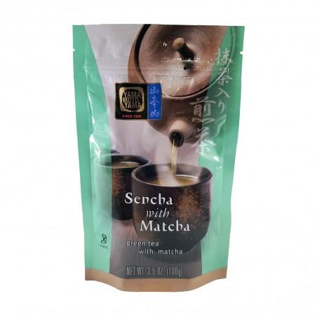 Te sencha con matcha in foglie - 100 g Yamamotoyama VJY-38673595 - www.domechan.com - Prodotti Alimentari Giapponesi