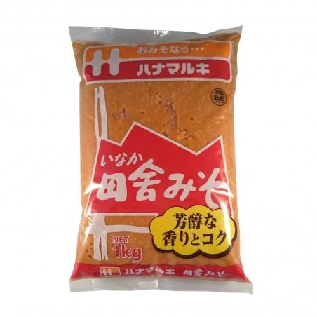 Inaka miso - 1 kg Hanamaruki VEY-92234395 - www.domechan.com - Japanese Food