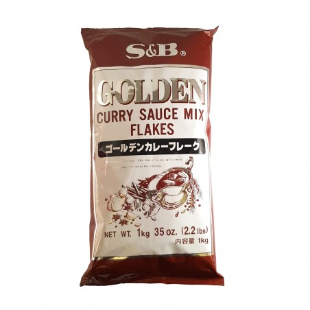 Mix curry golden in fiocchi - 1 Kg S&B HQW-47975425 - www.domechan.com - Prodotti Alimentari Giapponesi