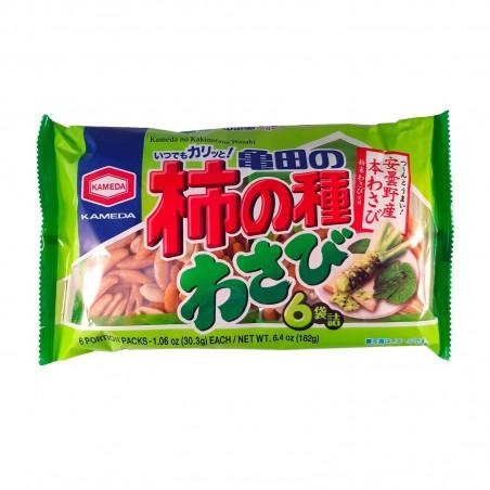 Kakino Tane rice crackers with peanuts, the wasabi - 210 gr Kameda UYH-39356310 - www.domechan.com - Japanese Food