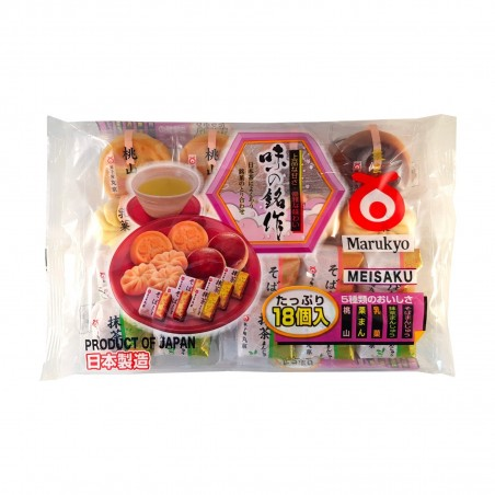 Wagashi Confectionery Japanese 18 Pieces - 250g Marukyo RQY-28798466 - www.domechan.com - Japanese Food