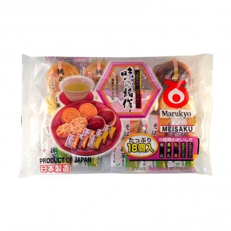 Wagashi Pasticceria Giapponese 18 Pezzi - 250g Marukyo RQY-28798466 - www.domechan.com - Prodotti Alimentari Giapponesi