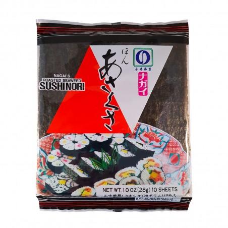 Alga nori nagai' ' s red - 28 gr Asakusanori TRM-78894359 - www.domechan.com - Japanisches Essen