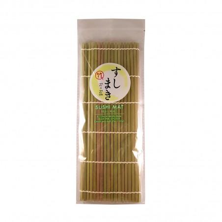 Mat, natural bamboo sushi - 27x27 cm Daiso VRQ-53883466 - www.domechan.com - Japanese Food