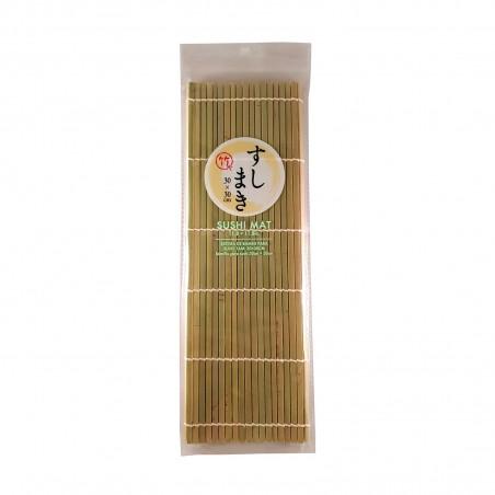 Mat, natural bamboo sushi type 1 - 30x30 cm Daiso VSW-67575242 - www.domechan.com - Japanese Food