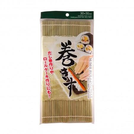 Stuoia di bamboo naturale per sushi tipo 2 - 30x30 cm Daiso VSY-75467323 - www.domechan.com - Prodotti Alimentari Giapponesi