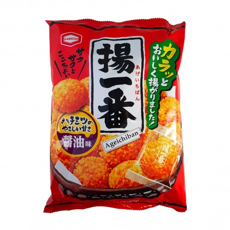 Rice crackers with soybeans and ageichiban honey - 155 gr Kameda DKY-44595893 - www.domechan.com - Japanese Food