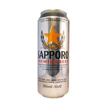 La bière sapporo en conserve - 500 ml Sapporo BJY-42877469 - www.domechan.com - Nourriture japonaise