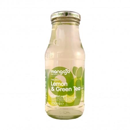 Soft drink mangajo to the taste of lemon and green tea - 250 ml Mangajo WEW-68928549 - www.domechan.com - Japanese Food