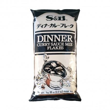 Dinner curry sauce mix flakes - 1 Kg S&B VXX-73624963 - www.domechan.com - Prodotti Alimentari Giapponesi