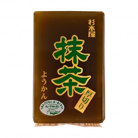 Matcha Yokan (süß, anko und grüner tee) - 150 gr Sugimotoya CSH-20893487 - www.domechan.com - Japanisches Essen