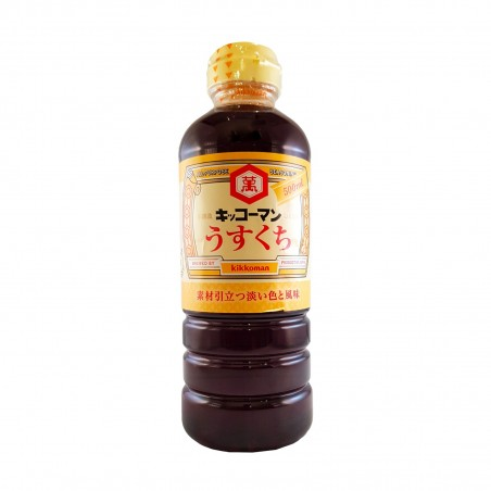 Salsa di soia usukuchi - 500 ml Kikkoman WJY-77364725 - www.domechan.com - Prodotti Alimentari Giapponesi