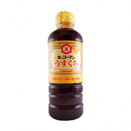 Soy sauce, usukuchi - 500 ml Kikkoman WJY-77364725 - www.domechan.com - Japanese Food