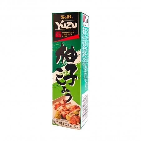 Pasta, Yuzu und pfeffer-grün - 43 g S&B TLY-58548389 - www.domechan.com - Japanisches Essen