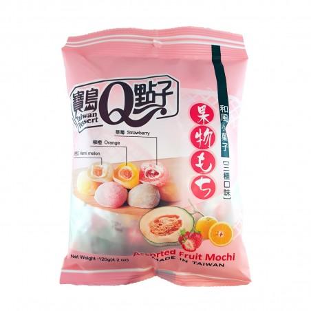 Mochi assorted 3 geschmacksrichtungen - 120 gr Royal Family WTG-23435547 - www.domechan.com - Japanisches Essen