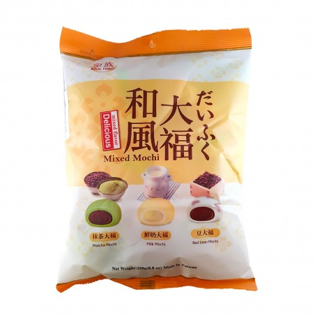 Mochi mix 3 flavours - 250 gr Royal Family WUY-77426532 - www.domechan.com - Japanese Food