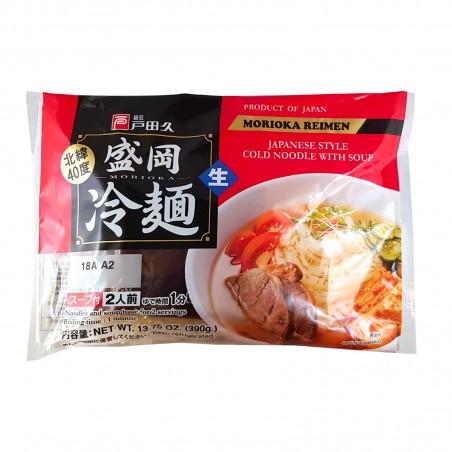 Ramen freddi con zuppa (2 porzioni) - 390 g Morioka Reimen XDY-77685992 - www.domechan.com - Prodotti Alimentari Giapponesi