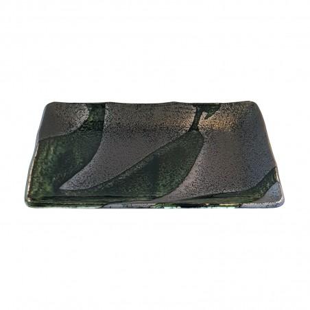 Keramik-platte rechteckig, modell garden - 21 cm x 13 cm Domechan XQW-83653449 - www.domechan.com - Japanisches Essen