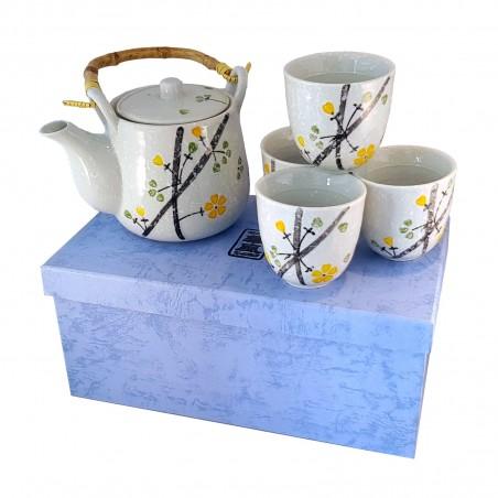Set you oriental tea pot and cups hand made - Type yellow flowers Uniontrade YCY-29462484 - www.domechan.com - Japanese Food