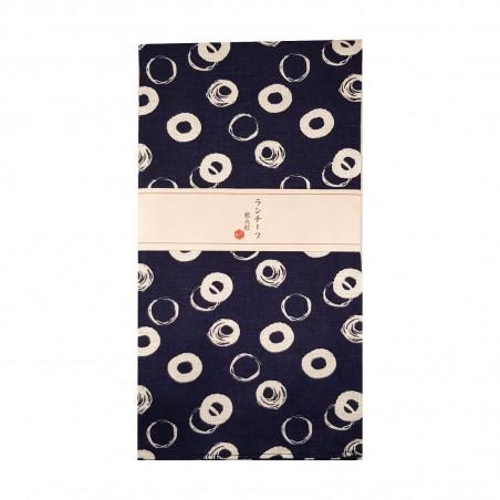 Furoshiki - Type blu con cerchi bianchi (54x54 cm) Domechan YMY-76266795 - www.domechan.com - Prodotti Alimentari Giapponesi