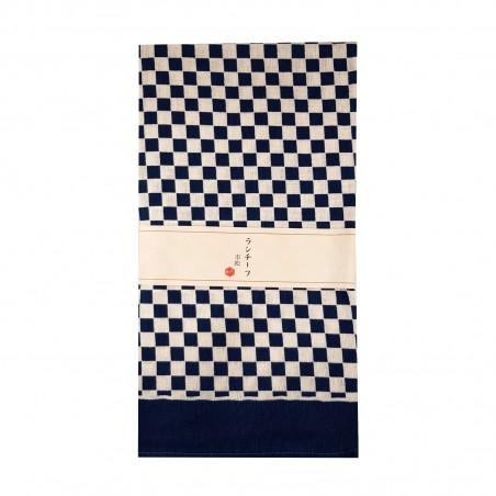 Furoshiki - Type quadretti bianchi e blu (54x54 cm) Domechan YNW-69476993 - www.domechan.com - Prodotti Alimentari Giapponesi
