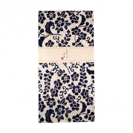 Furoshiki - Type bianco con fiori blu (54x54 cm) Domechan YPN-85869846 - www.domechan.com - Prodotti Alimentari Giapponesi