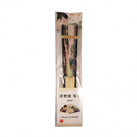 Ventaglio giapponese - Ukiyo-e Hokusai Domechan YRG-88555795 - www.domechan.com - Prodotti Alimentari Giapponesi