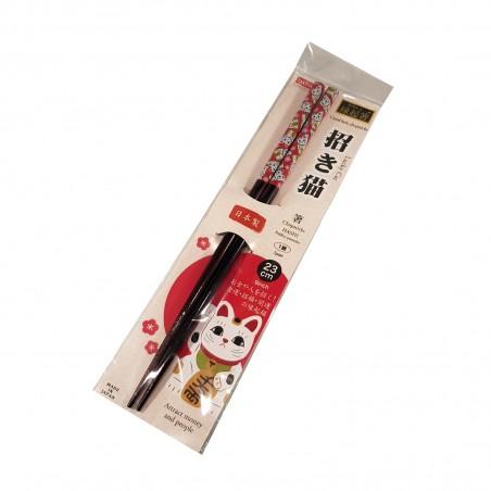 Japanese chopsticks wood - Manekineko Domechan ZDW-86676794 - www.domechan.com - Japanese Food