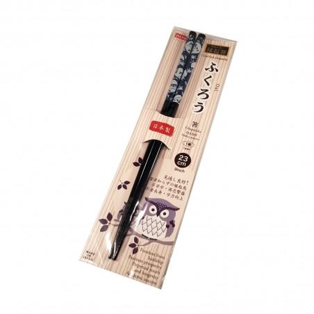 Bacchette giapponesi in legno - Gufo Domechan ZFW-88955396 - www.domechan.com - Prodotti Alimentari Giapponesi