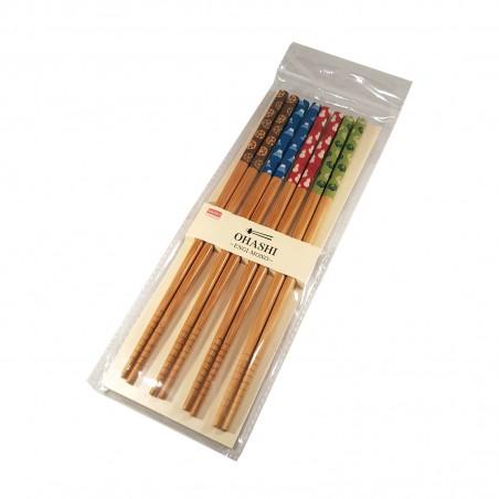 Japanese chopsticks in wood - Colors Domechan ZGW-44844587 - www.domechan.com - Japanese Food