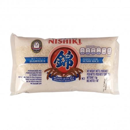 Rice nishiki medium grain - 1 kg JFC ZUY-69329433 - www.domechan.com - Japanese Food