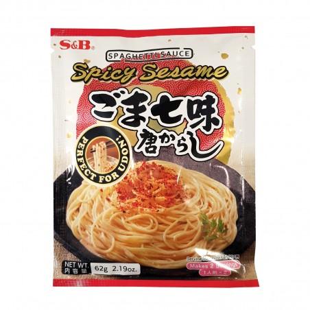 Salsa spaghetti piccanti e sesamo - 62 gr S&B XZX-43839360 - www.domechan.com - Prodotti Alimentari Giapponesi