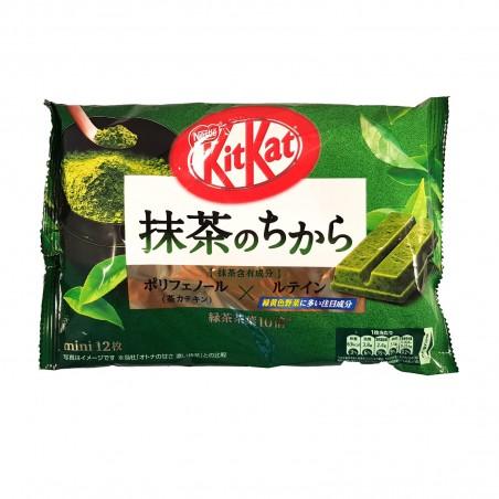 KitKat mini Nestlé con polvere e foglie di matcha - 135 g Nestle ZAP-40140027 - www.domechan.com - Prodotti Alimentari Giappo...