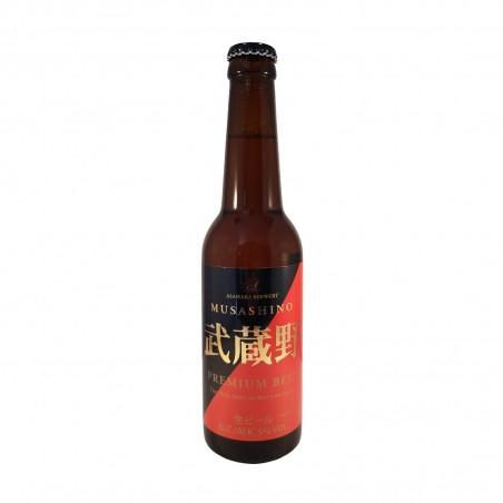 Birra musashino in vetro - 330 ml Asahara Brewery ZAT-40171241 - www.domechan.com - Prodotti Alimentari Giapponesi