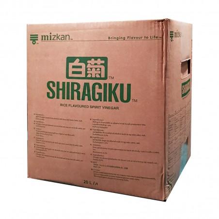 Aceto di riso Mizkan Shiragiku - 20 l Mizkan ZXP-77200411 - www.domechan.com - Prodotti Alimentari Giapponesi