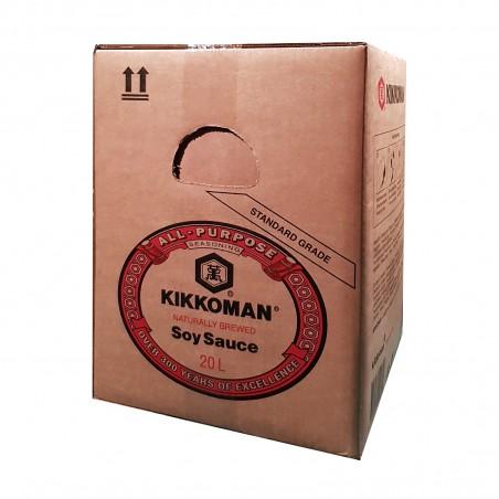 Salsa di soia Kikkoman Koikuchi - 20 l Kikkoman AZZ-01268627 - www.domechan.com - Prodotti Alimentari Giapponesi